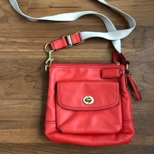 Coach tangerine small crossbody